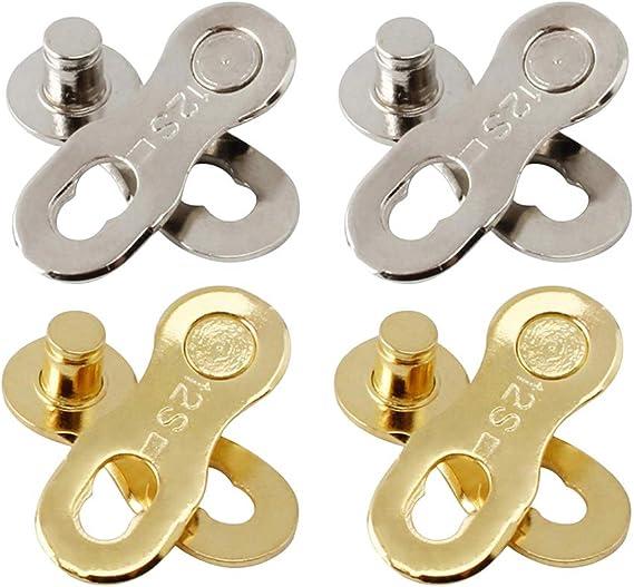 perfeclan 4 Pares Eslabones de Cadena de Bicicleta Connector para ...