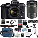 Canon EOS M5 Digital Camera With 18-150mm f/3.5-6.3 IS STM Lens + Canon M5 Deluxe Accessory Bundle - M5 Canon Mirrorless Camera Includes EVERYTHING You Need To Get Started