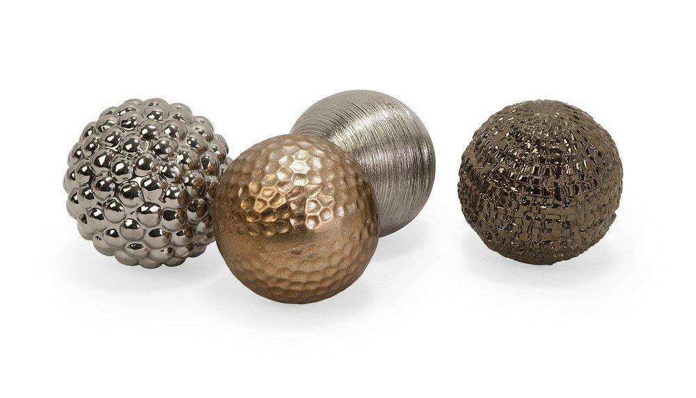 amazoncom imax 1589 4 metallic finished orbs set of 4 home kitchen - Decorative Orbs