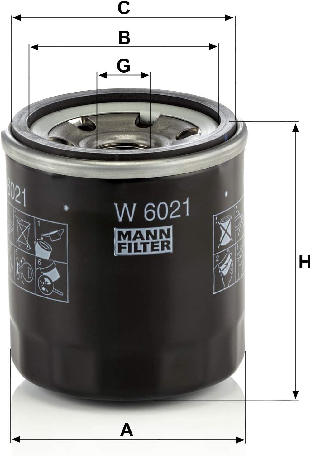 Original Mann Filter Ölfilter W 6021 Für Pkw Auto