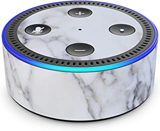 product image for White Marble - Skin Sticker Decal Wrap for Amazon Echo Dot (2nd Generation)
