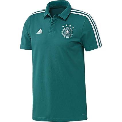 Adidas Selección Alemana de Fútbol Polo, Hombre, Verde (Eqtver/Blanco),