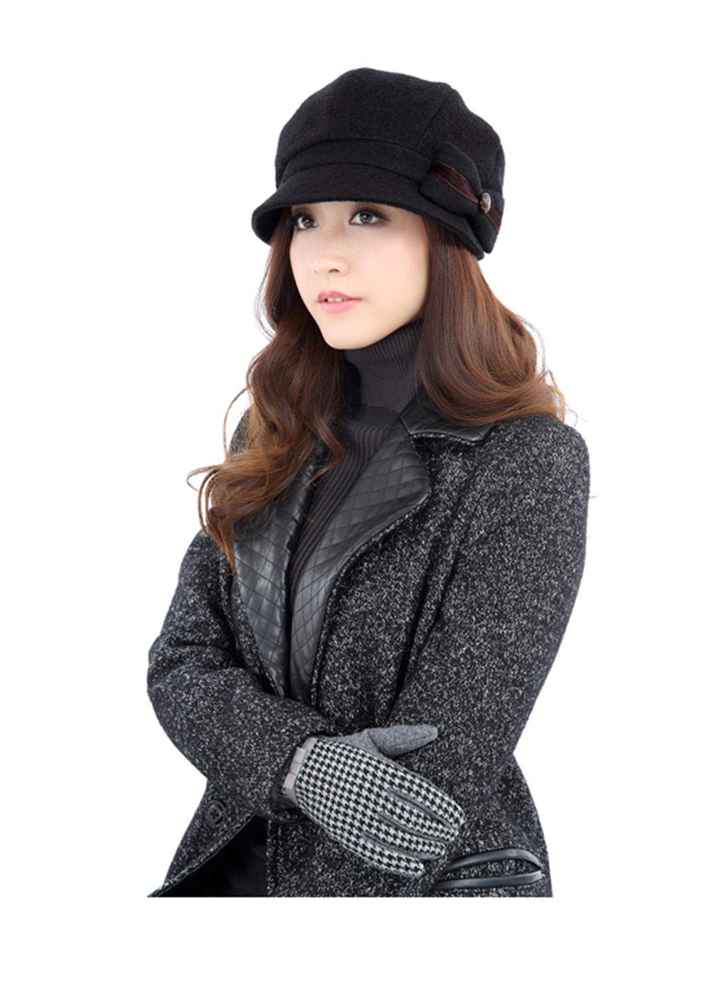 Ladies Summer Women's Elegant Spring Fall Casual Beray Foldable Sun Hat Black