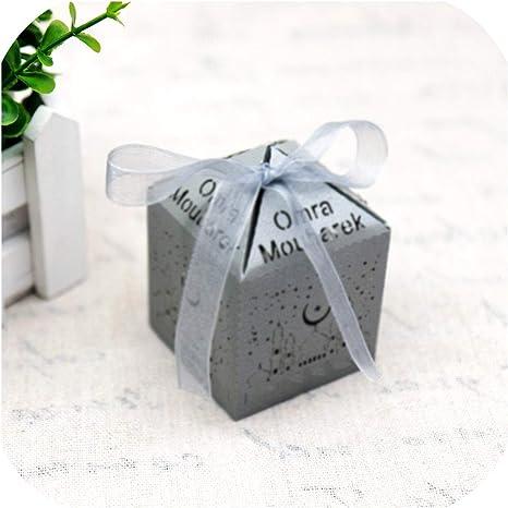 Amazon Com Brilliant Store 10pcs Lot Gold Silver Eid Mubarak Gift Box Ramadan Candy Box Diy Paper Gift Boxes Eid Party Ramadan Mubarak Muslim Grey Omra Moubarek Home Kitchen