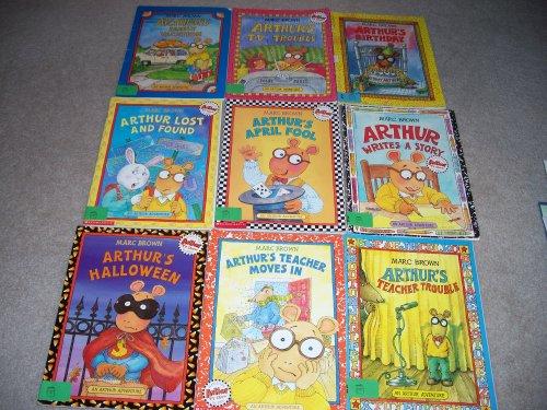 Arthur's Teacher Moves In, Arthur's Teacher Trouble, Writes a Story, April Fools, Lost and Found, Arthur's Birthday, Family Vacation, T.V. Trouble, Arthur's Halloween (Nine Arthur Books)]()