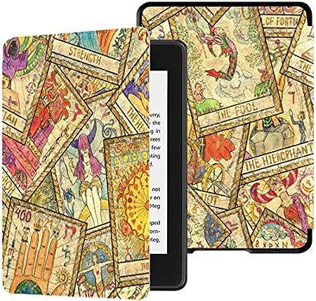 Estuche para Kindle Paperwhite 2018 Patrón sin Costuras Viejas Cartas de Tarot Coloridas Estuches para Kindle Paperwhite 2018 Estuche con Despertador automático/Reposo El Mejor Estuche Kindle Paper: Amazon.es: Electrónica
