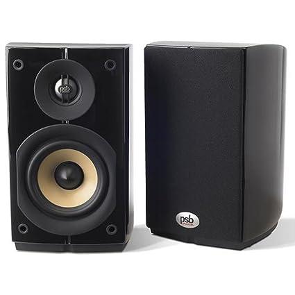 PSB Imagine Mini Compact Bookshelf Speakers In Black Ash Pair