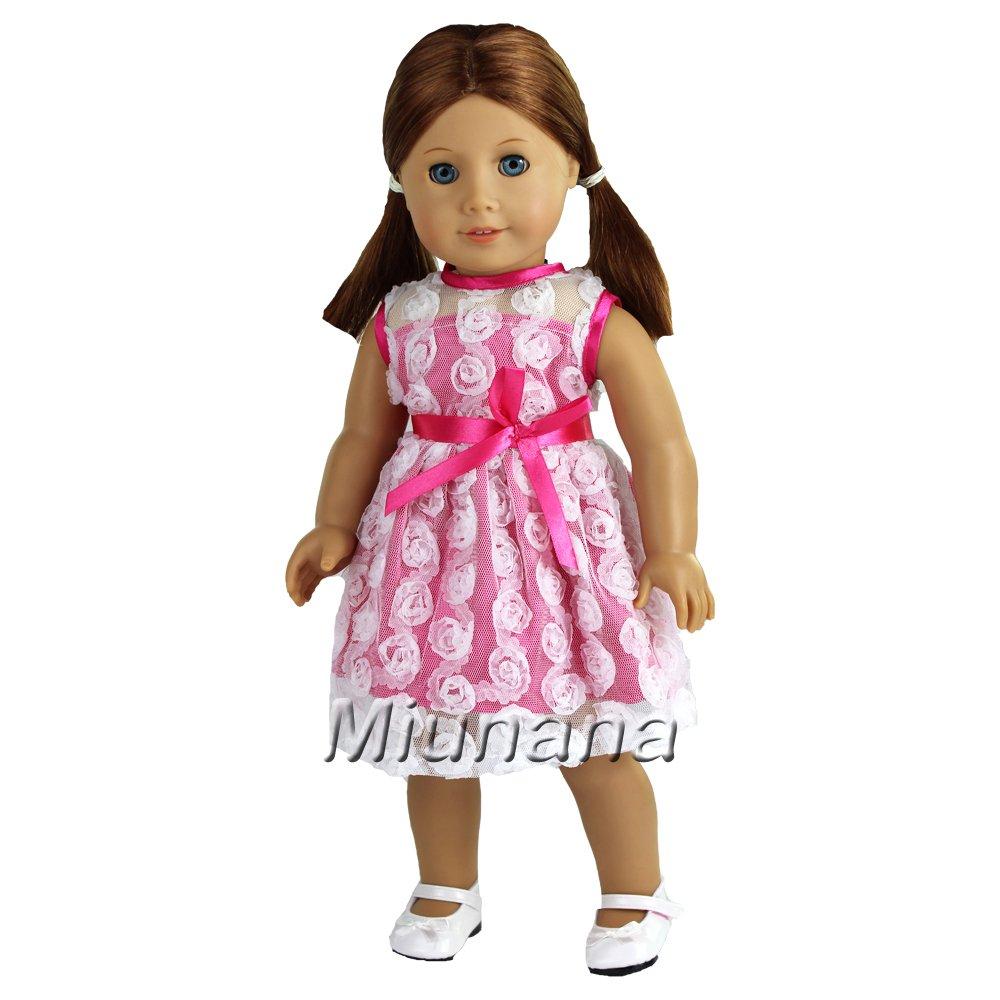 Miunana 2x Traje de Vestido Ropa Lindo Casual Vestir para Mu/ñeca American Girls Mu/ñecas Doll