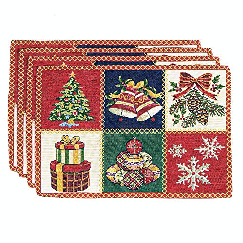 Homvare Christmas Holiday Placemats 13