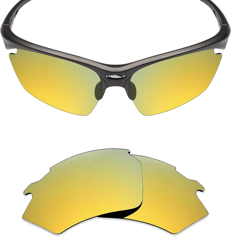 Black IR//24K Gold//Plasma Purple//Emerald Green Mryok 4 Pair Polarized Replacement Lenses for Rudy Project Rydon Sunglass