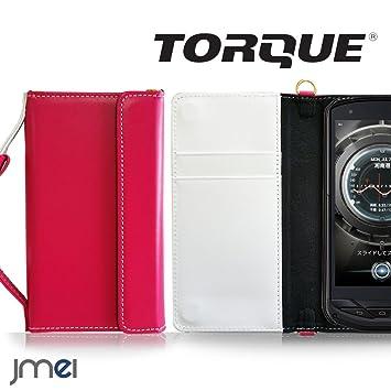 468fa1808e TORQUE G02 ケース 本革 JMEIオリジナルレザー手帳ケース CHARON ホットピンク au エーユー トルク