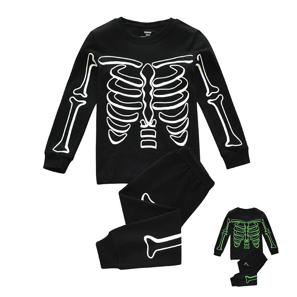 Hisharry Halloween Pajamas for Boys Girls-Unisex Kids Sleepwear Toddler Little 2 Piece Pjs Cotton Clothes for 4 Years