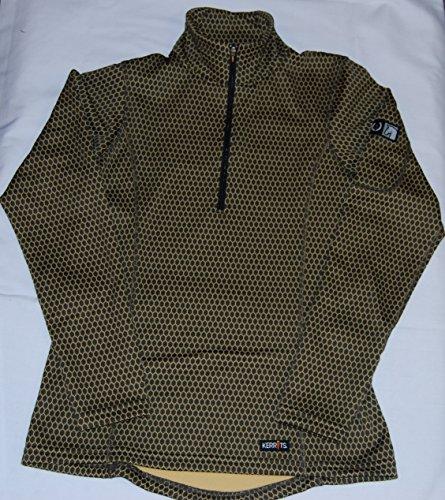 Kerrits Hex Fleece Half Zip Tan Hex Size: Medium