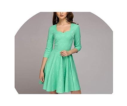 0083db482d6a3c Utensil-Shop Dresses A-line Dress V-Neck Three Quarter Sleeve Elegant Party