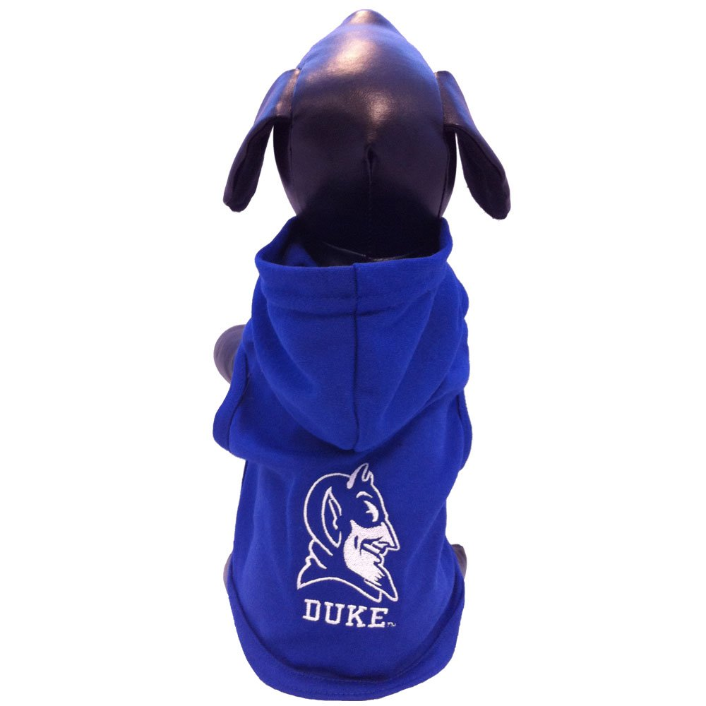All Star Dogs NCAA Duke Blue Devils Collegiate Cotton Lycra Hooded Dog Shirt, Team Color, Small Royal Blue/White