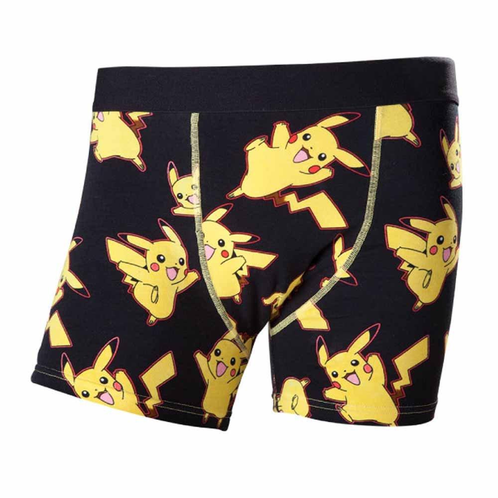 TALLA X-Large. Boxers Pokemon Pikachu (Negro/Amarillo)