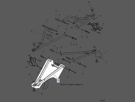 Polaris 2016 Rzr Xp Turbo Rzr Xp 4 Turbo Weld Ctrl Arm Lwr Fr Rh 64