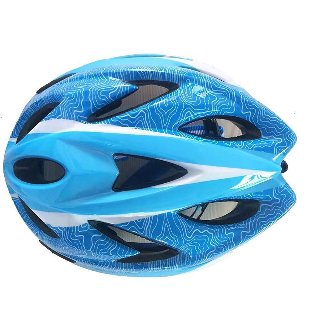 Casco da Bici per Bambini Casco da Bici Casco Portatile Regolabile Confortevole Leggero e Traspirante Resistenza all'impatto Ventilazione Casco da Bambino Multi-Sport,blu,L