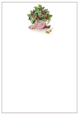 Entertaining With Caspari Christmas Tea Blank Invitations Envelopes Pack Of 8 Red