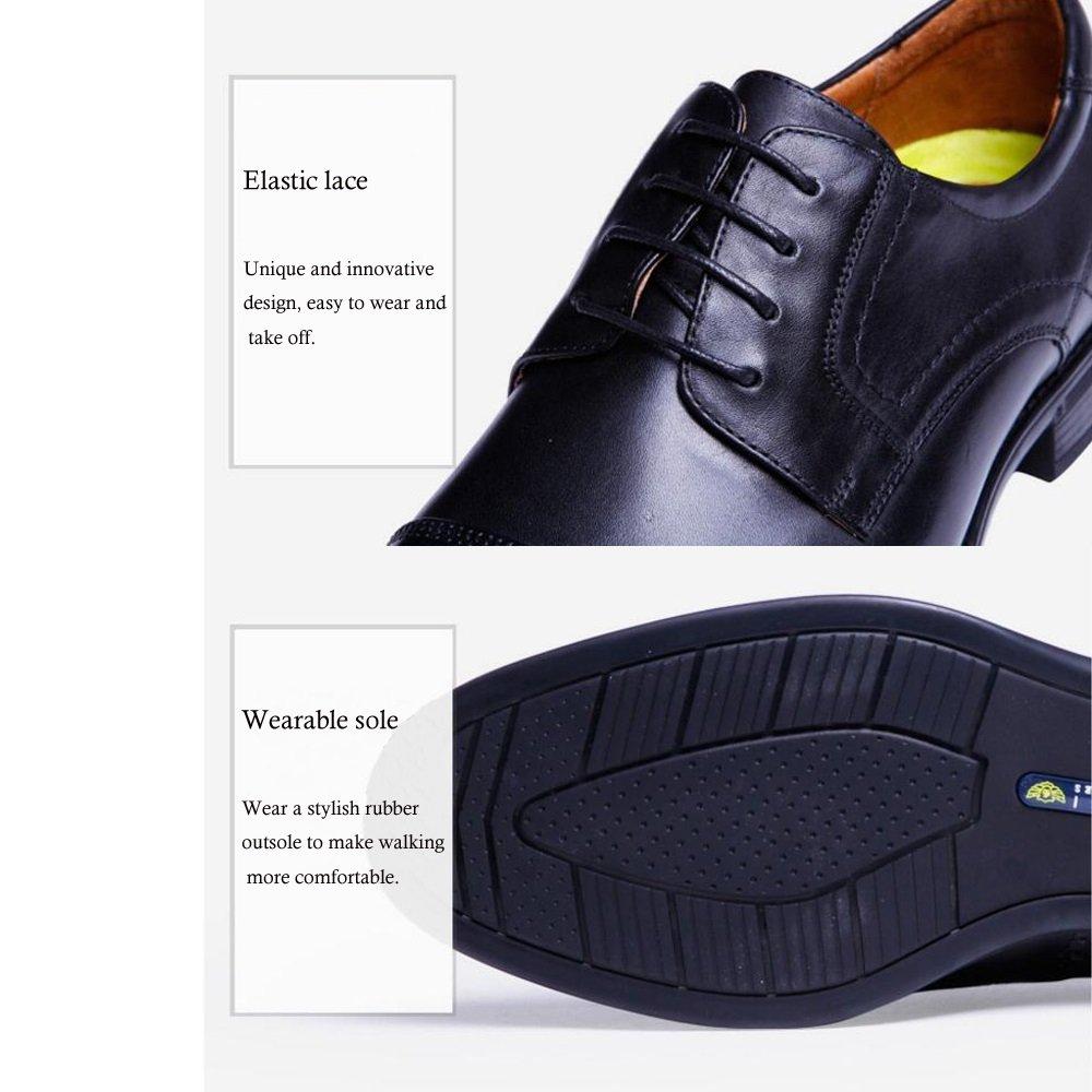 GAOLIXIA Herren Herren Schwarz Leder Slip On On On Formelle Schuhe Breit Fitting. - Schwarz Braun Größe 6-10 0b3e8a