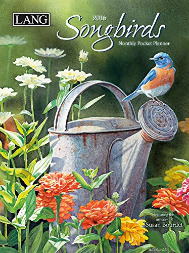 Lang Songbirds 2016 Monthly Pocket Planner by Susan Bourdet, January 2016 to January 2017, 4.25 x 6.5 Inches (1003167)