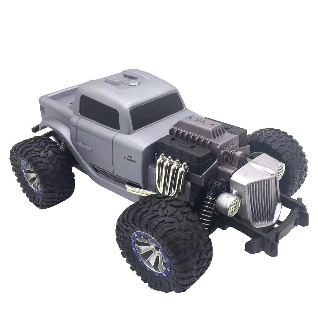 1/18 Scale RC Rock Crawler 4WD Off Road RC Truck 2.4Ghz 20KM/H High Speed Remote Control Monster Truck Desert Buggy RC Car for Ages 14+