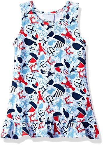 Flap Happy Baby Girls' Sophie Swing Dress, Lobster Lagoon, 18m ()