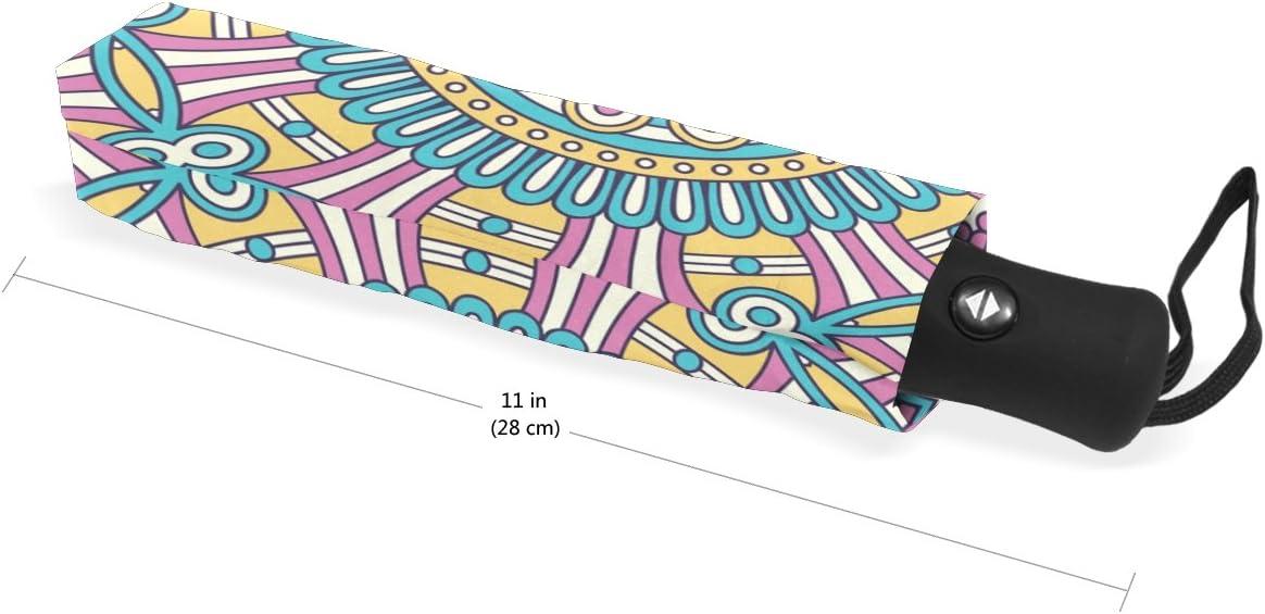 DOENR Blue Irregular Figure Compact Travel Umbrella Sun and Rain Auto Open Close Umbrellas Windproof UV Protection Umbrella
