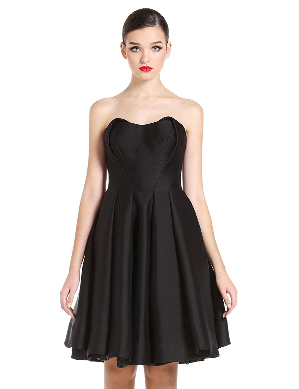 Sumeirui_dress Women's Short Strapless Prom Dresses SD008