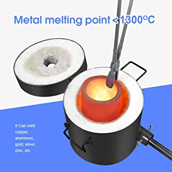 GONGYI 6KG Propane Melting Furnace Kit Stainless Steel 304 Up to 2600/°F//1426/°C for Metal Recycle Smelting Gold Copper Aluminum Glass Jewelry Making Includes Crucible and Crucible Tongs