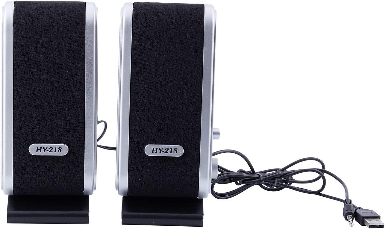 Andifany NEW 120W USB Power Desktop Computer Notebook Audio Speaker 3.5mm Earphone Jack