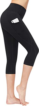 BISUAL High Waisted Yoga Pants with Pockets, Tummy Control Workout 4 Way Stretch Yoga Leggings for Women