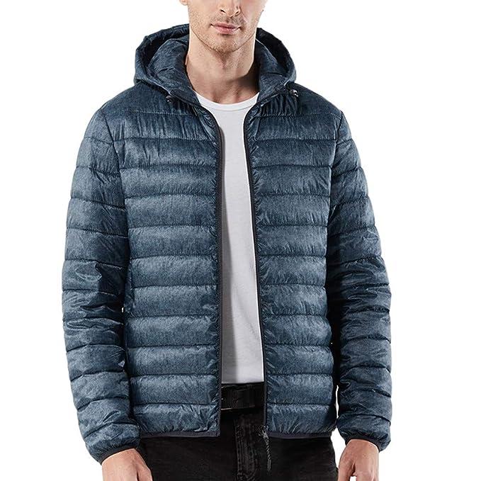 Beikoard_Hombre Manga Larga, Abrigo de otoño e Invierno para Hombre Abrigo cálido con Capucha Casual en Color Liso Abrigo: Amazon.es: Ropa y accesorios