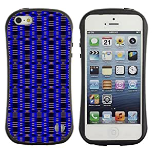 DesignCase Premium TPU / ABS Hybrid Back Case Cover Apple iPhone 5C ( blue pattern )