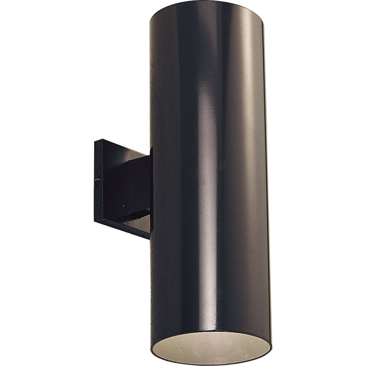 Progress Lighting P5642-20 6-Inch Up/Down Cylinder with Heavy Duty Aluminum Construction and Die Cast Wall Bracket, Antique Bronze by Progress Lighting