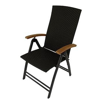 Amazon De Polyrattan Poly Rattan Gartenmobel Stuhl Sessel