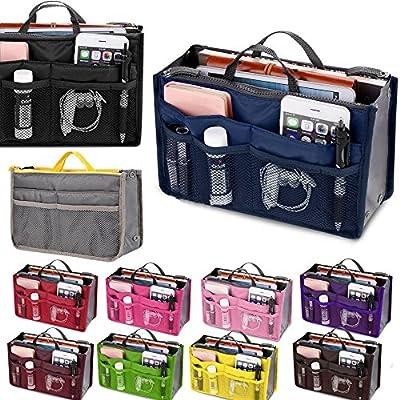 Women Lady Organizer Tidy Insert Handbag Travel Liner Organiser Large Liner Tidy Bag