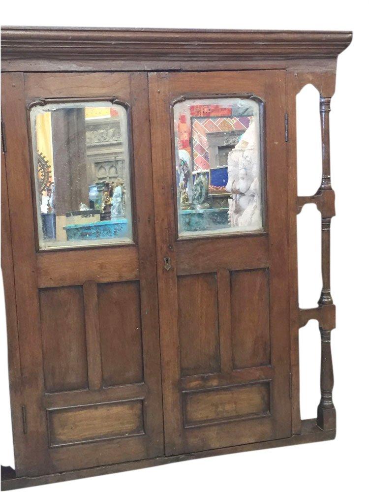 Antique Jharokha Mirror Window Frame Indian Style Decor Vintage Furniture by Mogul Interior