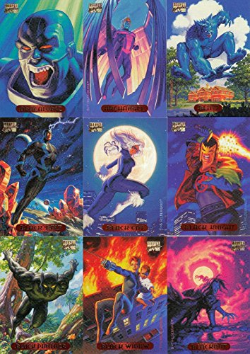 MARVEL MASTERPIECES 1994 FLEER COMPLETE BASE CARD SET OF 140