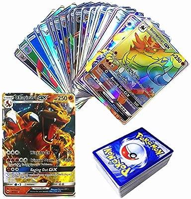 100 Piezas Pokemon Tarjetas coleccionables Traje GX95+MEGA5 ...