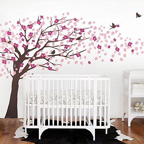 Simple Shapes Brown Cherry Blossom Tree - Elegant Style (Color Scheme B - Brown Tree)