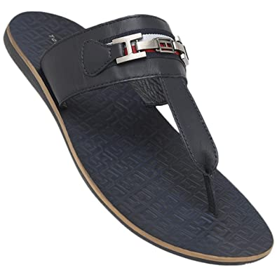 promo codes superior quality wholesale price Tommy Hilfiger Mens Leather Casual Wear Slippers: Buy Online ...