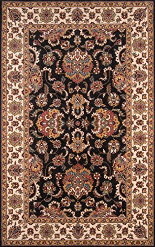 Momeni Rugs Persian Rug (Momeni Rugs PERGAPG-14CHR80A0 Persian Garden Collection, 100% New Zealand Wool Traditional Area Rug, 8' x 10', Charcoal)