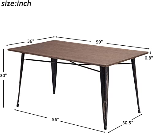 Merax Dining Table Antique Style Rectangular Living Room Table