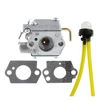 amazon com hipa wt 827 carburetor with primer bulb for mtd bolens Walbro Fuel Filter hipa wt 827 carburetor with primer bulb for mtd bolens trimmer bl100 bl150 bl250 bl410