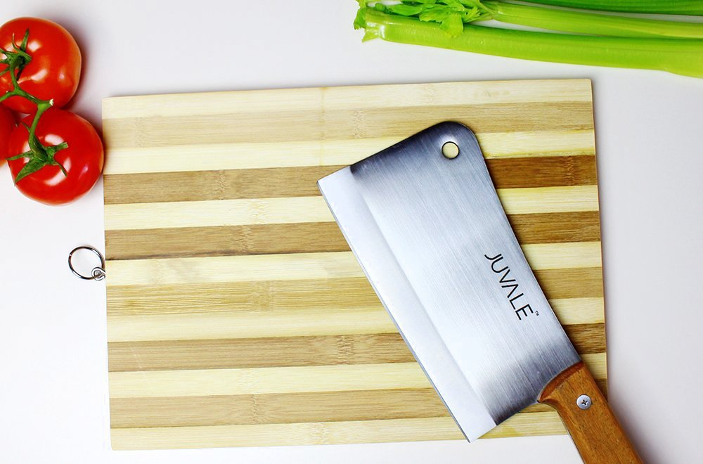 Juvale Stainless Steel Heavy Duty Meat Cleaver/Chopper/Butcher Knife - Solid Wood Handle - Professional Quality - for Home & Restaurant Use - 8 Inches by Juvale (Image #4)