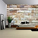 wall26 - Stone Wall Texture - Removable Wall Mural | Self-adhesive Large Wallpaper - 100x144 inches