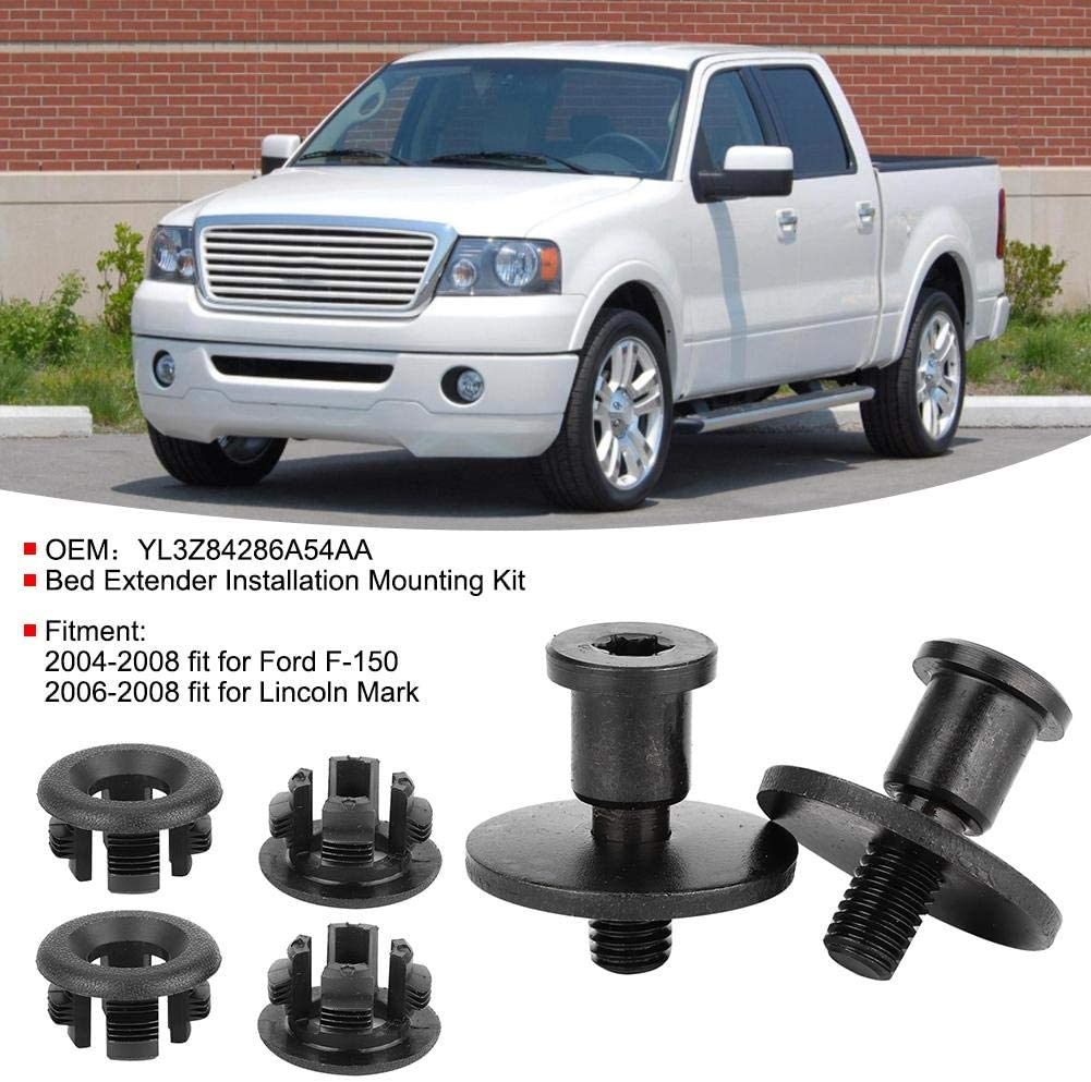 KIMISS Bed Extender Mounting Bed Extender Installation Kit Mounting Hardware Set Fit for F-150 YL3Z84286A54AA