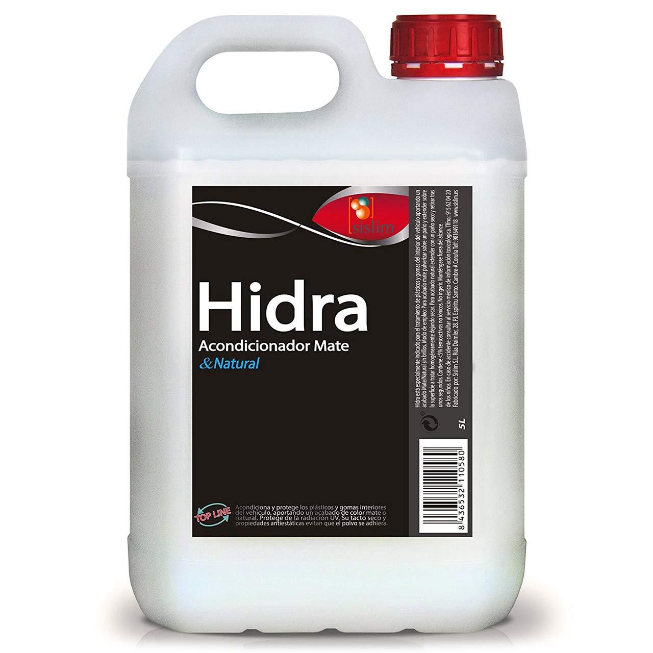 Sisbrill Hidra - Acondicionador de Salpicaderos, Piel y Plásticos Interiores | Acabado Mate&Natural - Tacto seco | 5 litros: Amazon.es: Coche y moto