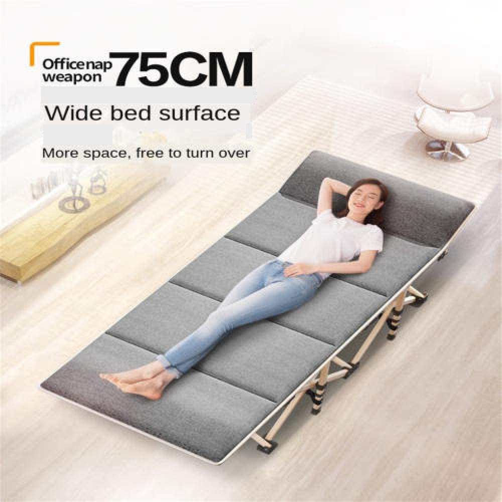 75 Cm Folding Bed Solo Household Adult Noon Break Siesta Deck Chair Office Simple And Easy More Function Portable-02 01